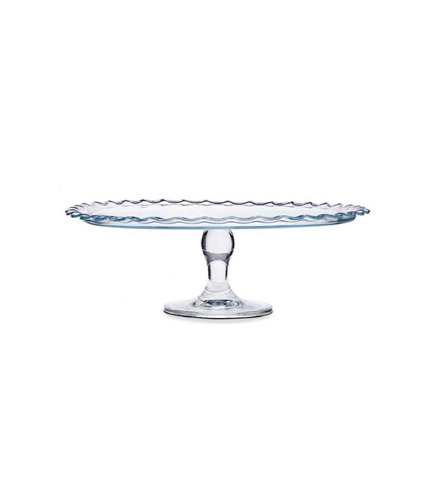 Présentoir à gâteau/tarte sur pied rond en verre D37cm