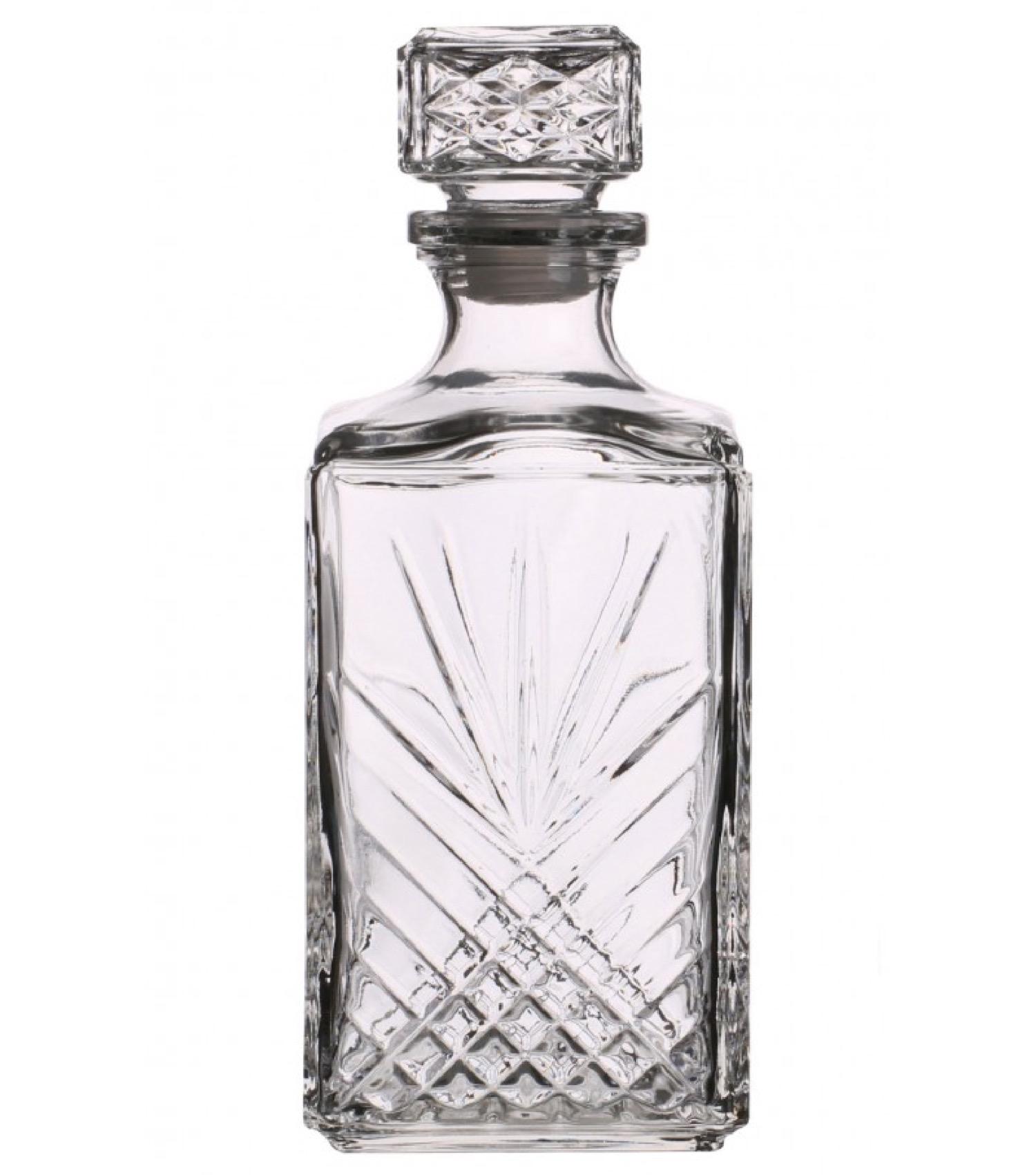Carafe à whisky en verre taillé transparent 100cl