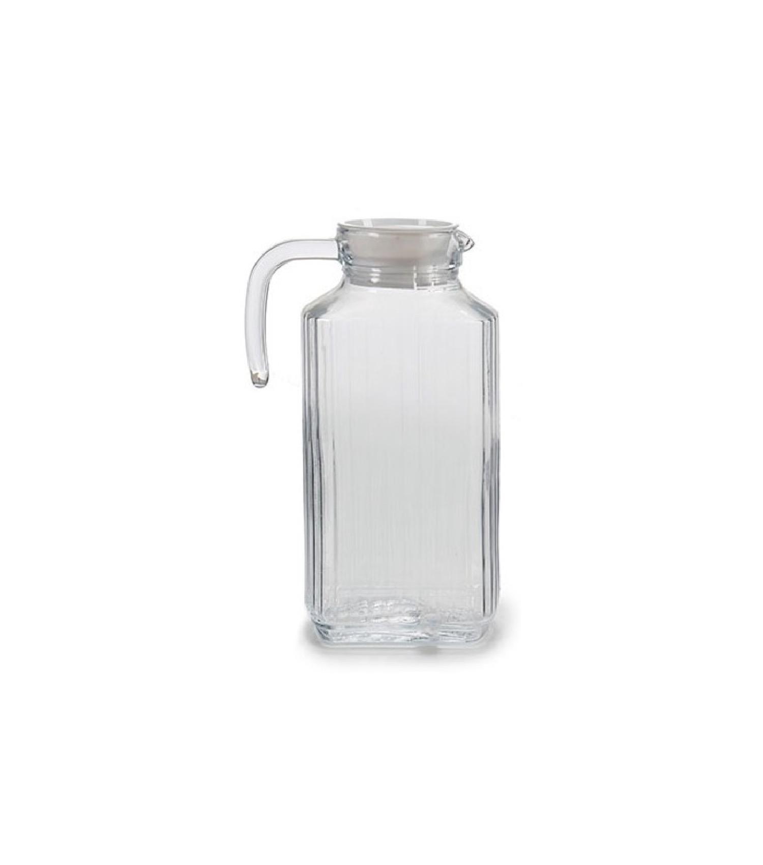 Carafe en verre à rayures 1,8L