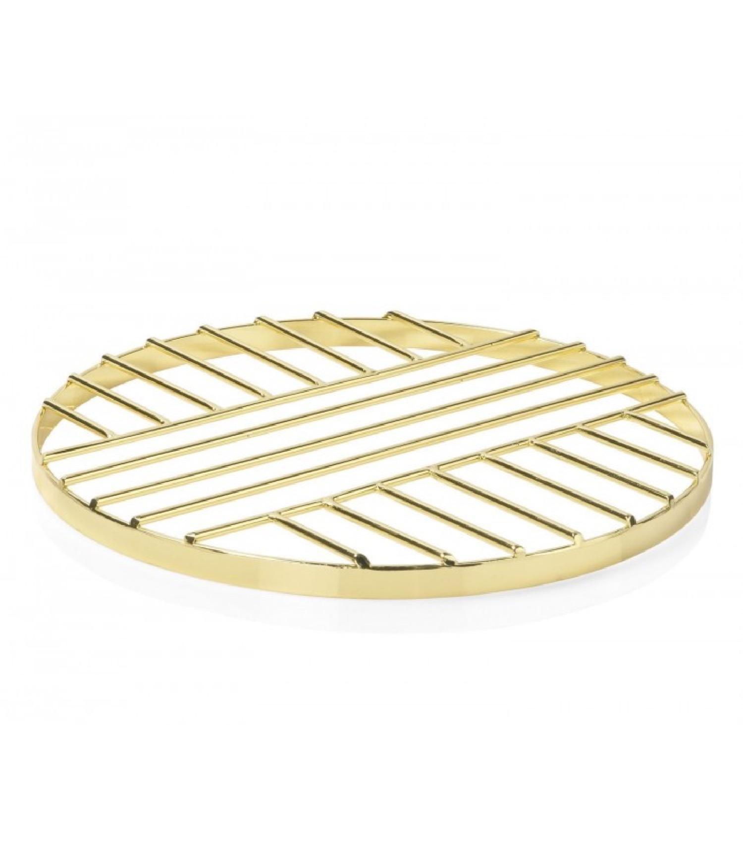 Dessous de plat en métal doré D20cm