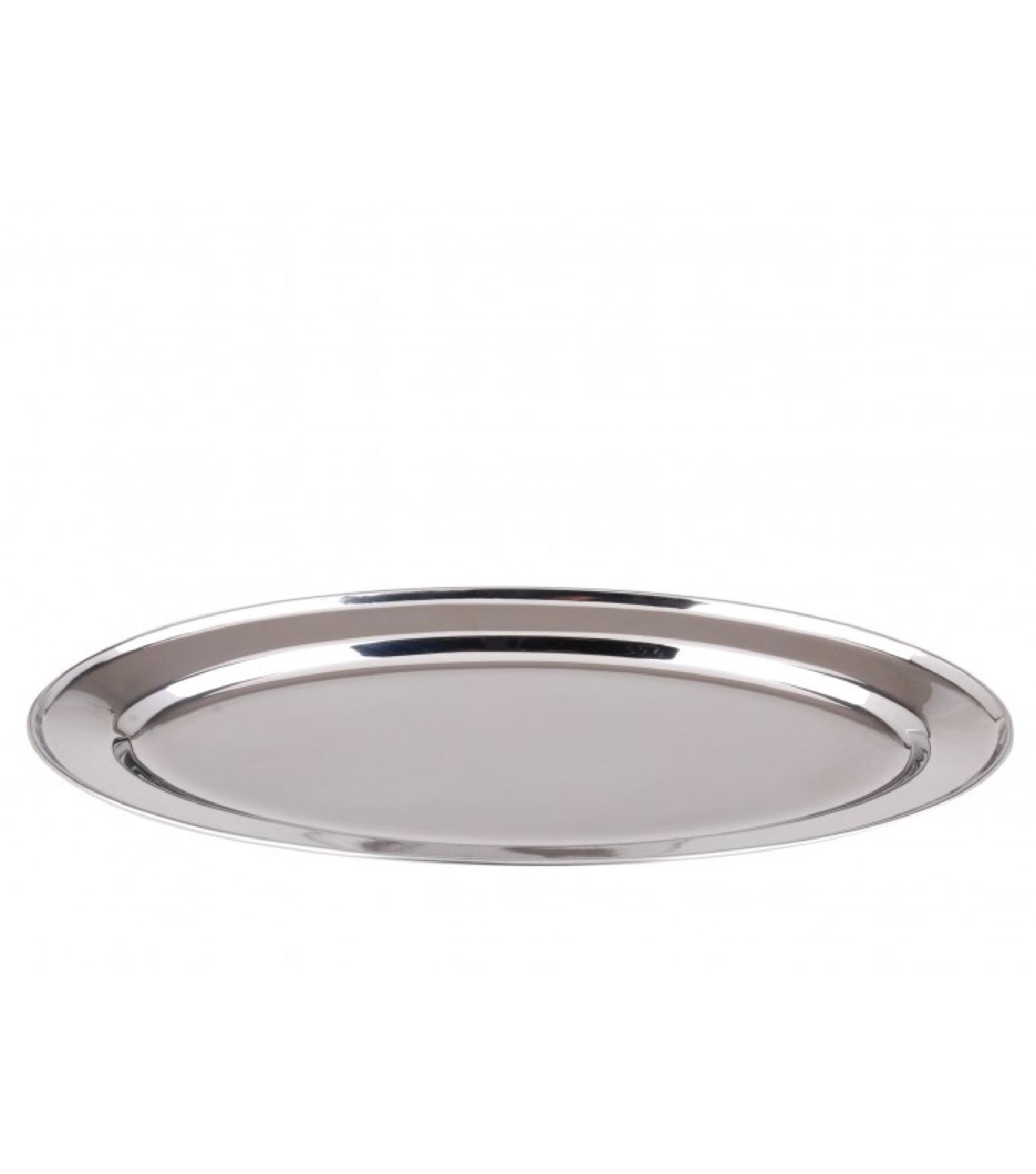 Plat de service ovale en inox L30cm