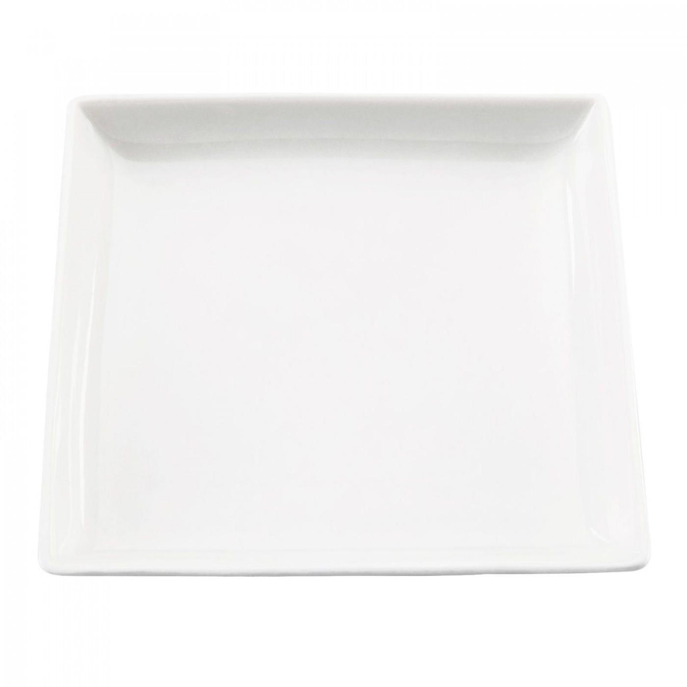 Assiette en porcelaine carrée 26x26cm