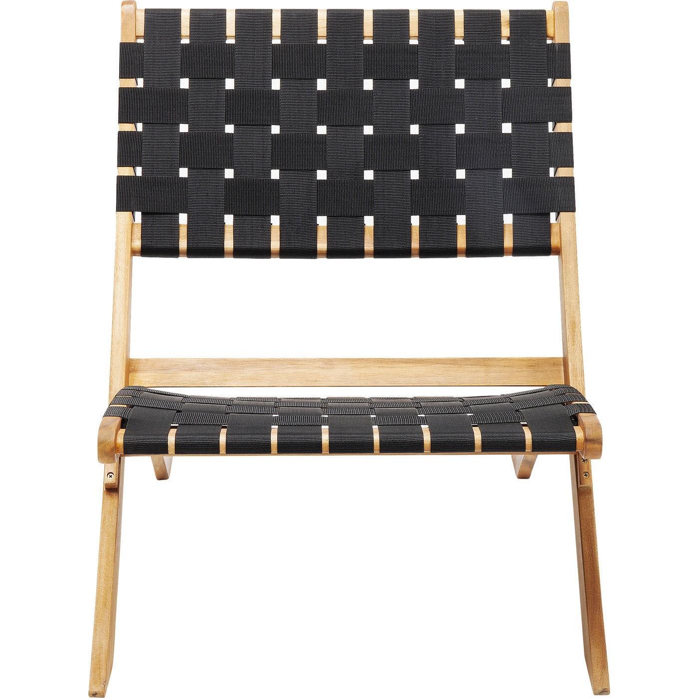 Chaise de jardin noire et acacia massif