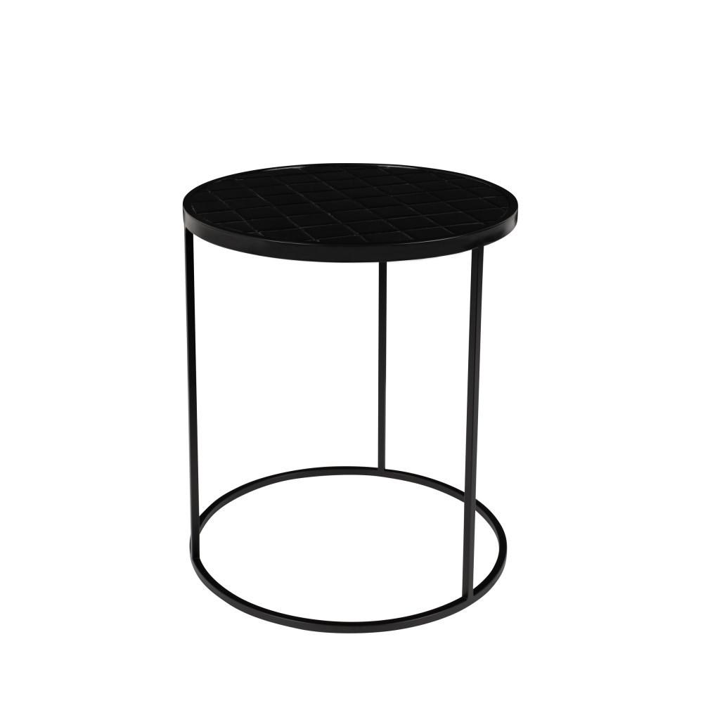 Table d'appoint ronde D40cm noir
