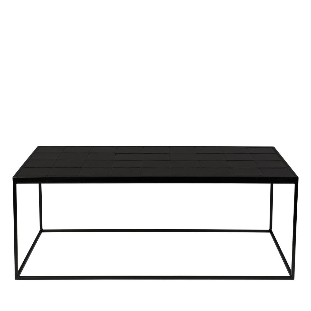 Table basse rectangulaire noir