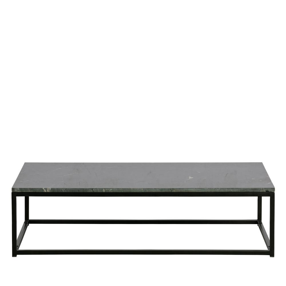 Table basse en métal et marbre 120x60cm noir