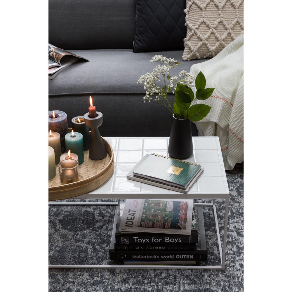 Table basse rectangulaire en céramique blanc