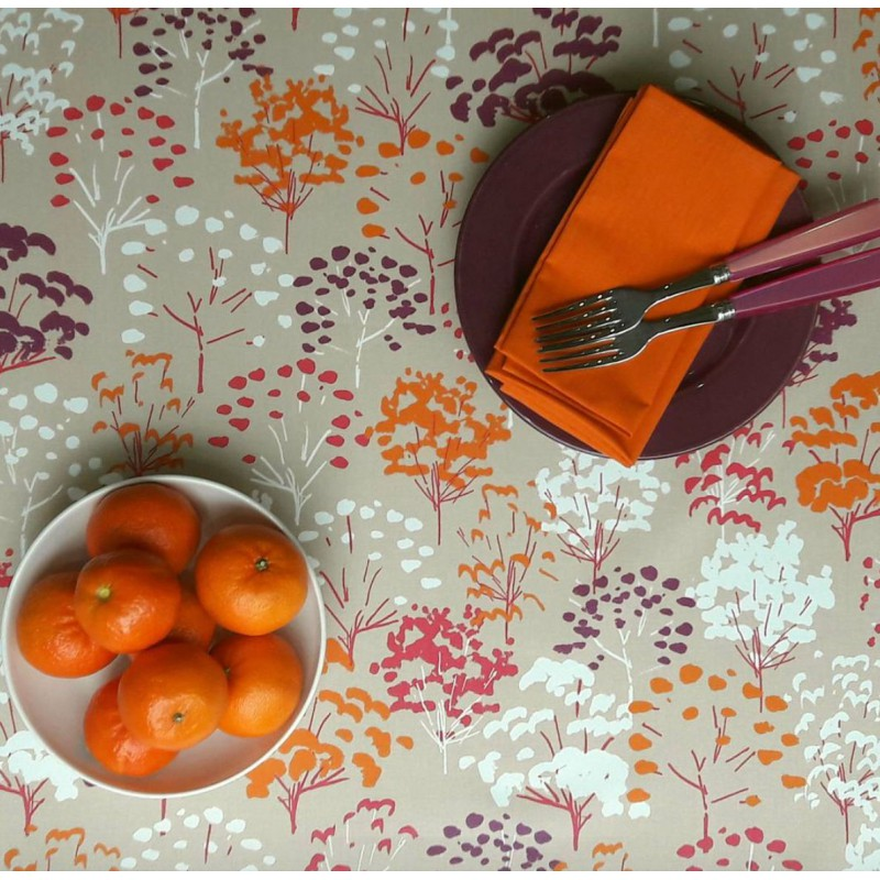 Nappe enduite rectangle 160 x 240 cm fuchsia