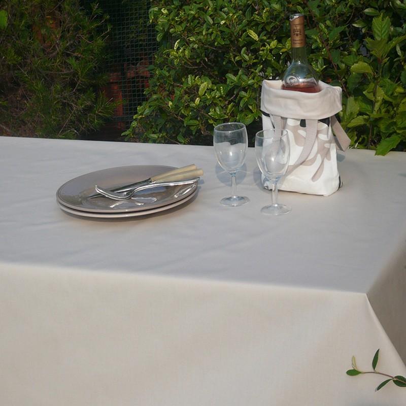 Nappe enduite rectangle 160 x 300 cm beige
