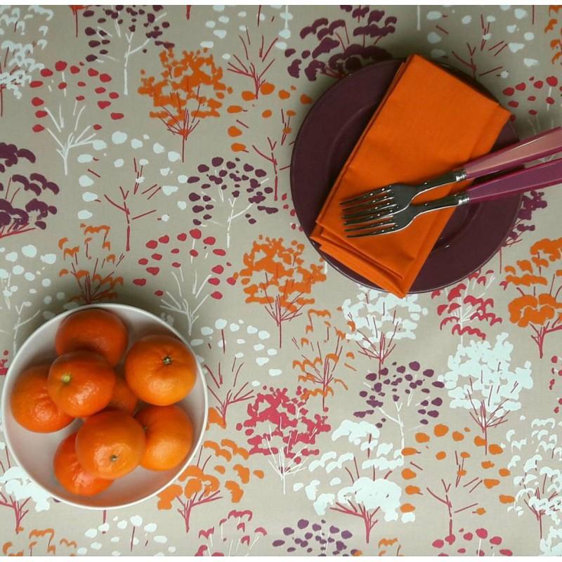 Nappe enduite rectangle 160 x 200 cm fuchsia