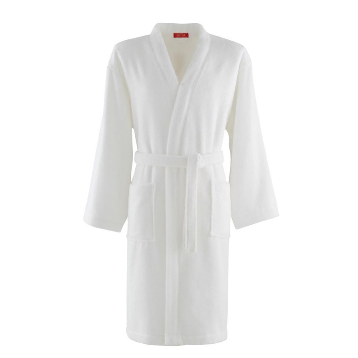 Kimono coton peigné Blanc L (photo)