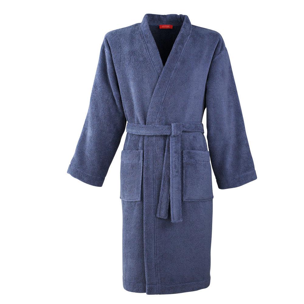 Kimono coton peigné Bleu L