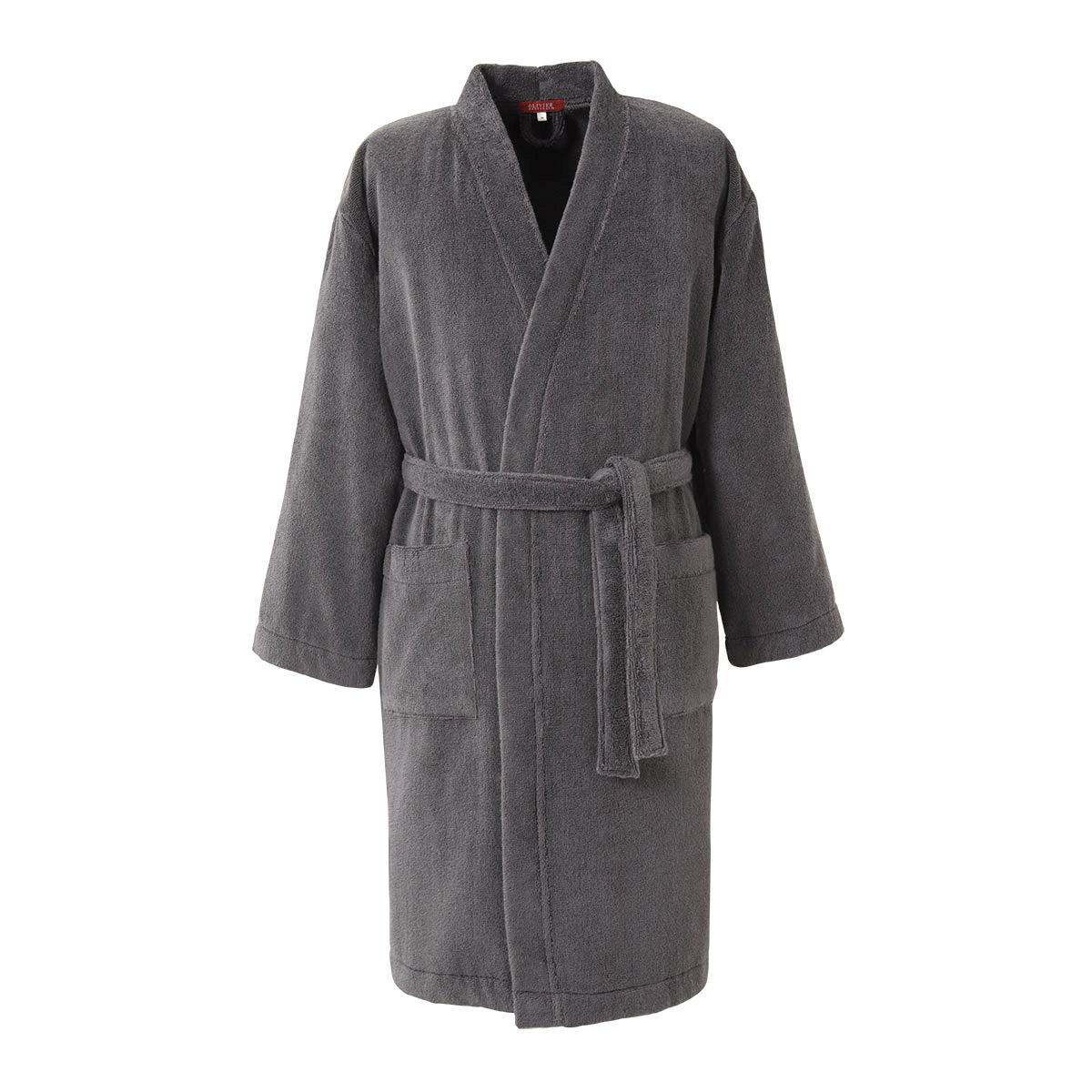 Kimono coton peigné Anthracite L (photo)