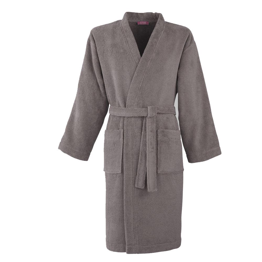 Kimono coton peigné Taupe M (photo)