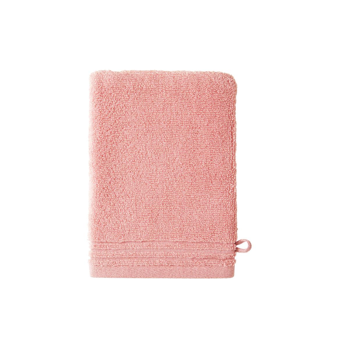 Gant de toilette coton peigné Rose 15 x 21 cm