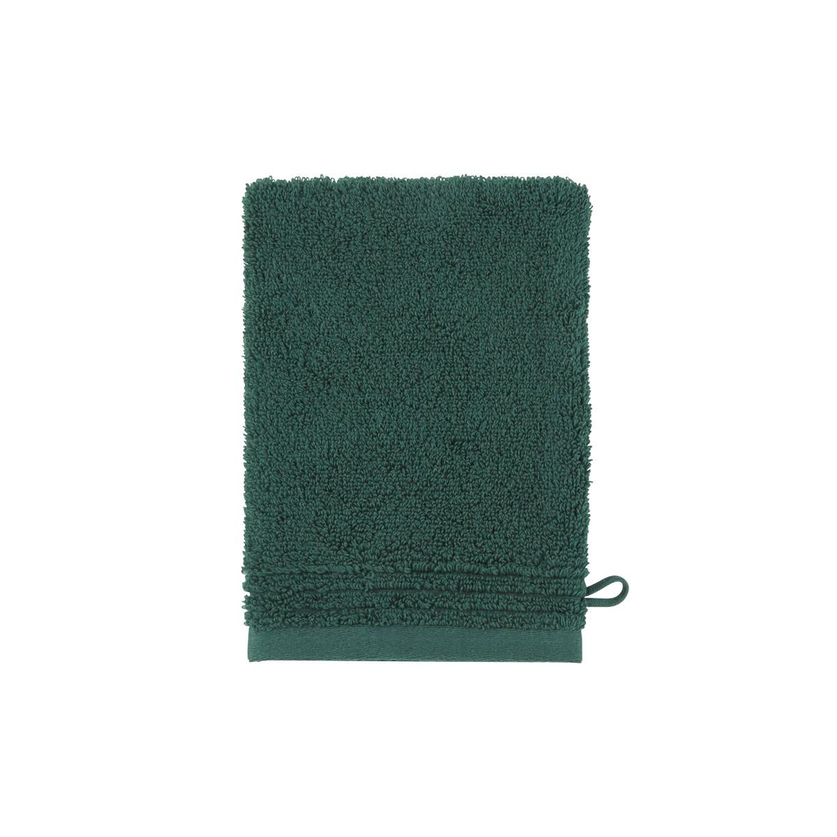 Gant de toilette coton peigné Vert 15 x 21 cm