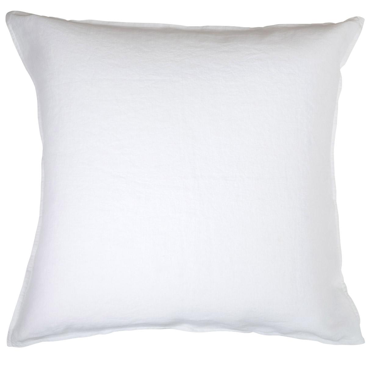 Taie d'oreiller 100 % Lin Blanc 65 x 65 cm