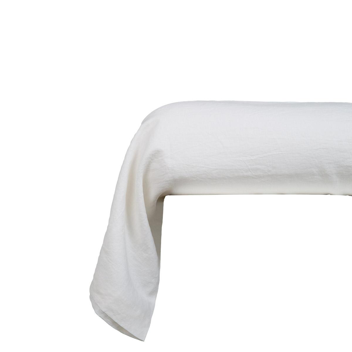 Taie d'oreiller 100 % Lin Blanc 85 x 210 cm