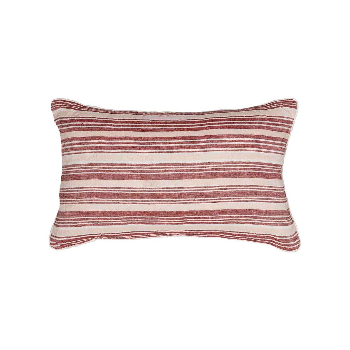 Coussin en lin/coton lavé  Cardinal 30x50 cm