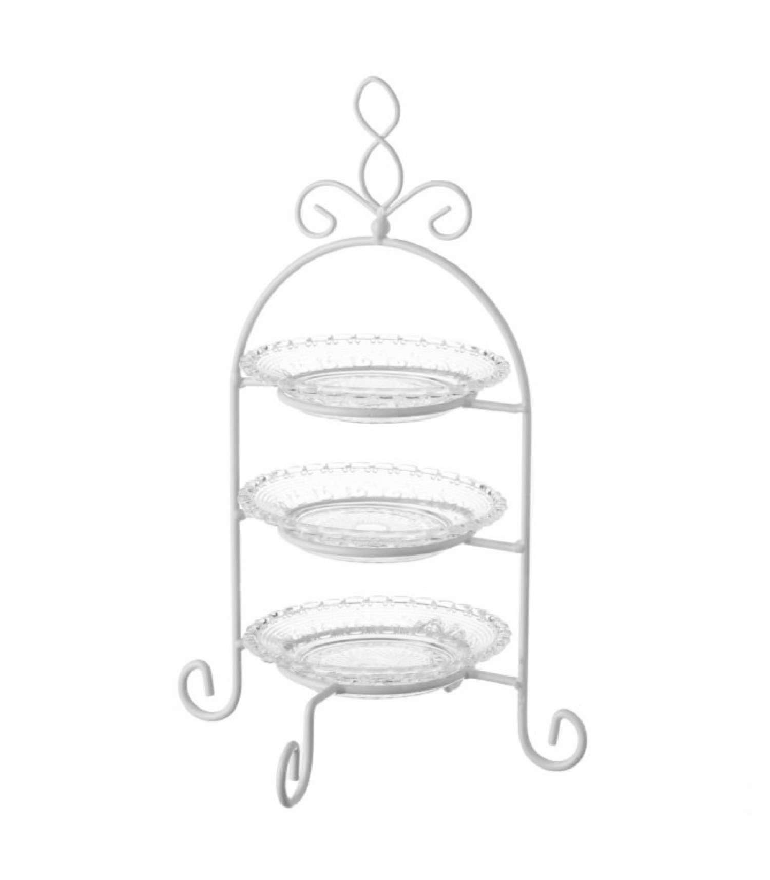 Plat de présentation fruits ou gâteaux en verre H32,5cm