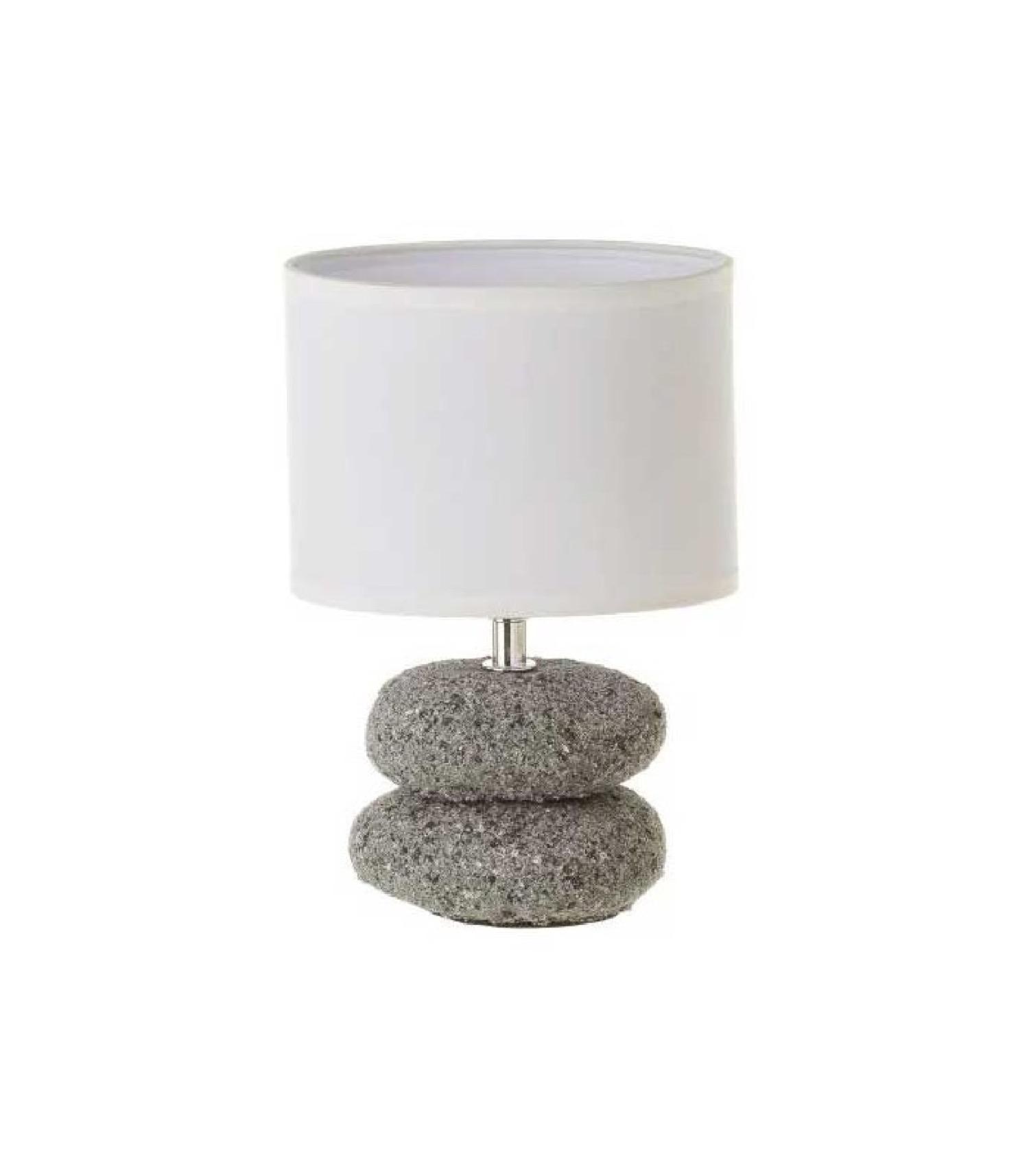 Lampe à poser abat-jour blanc H24cm