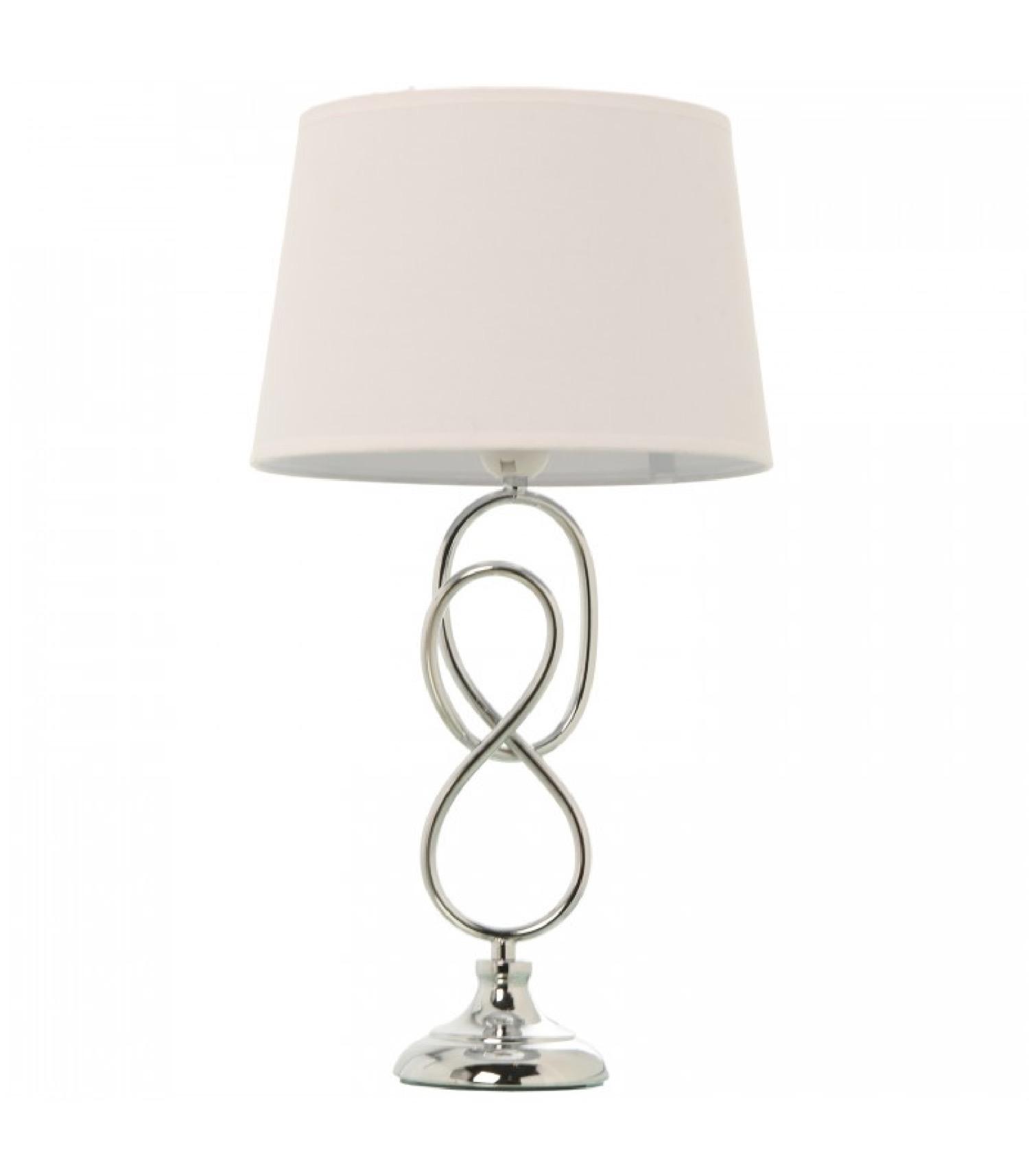 Lampe à poser en métal chromé H49cm