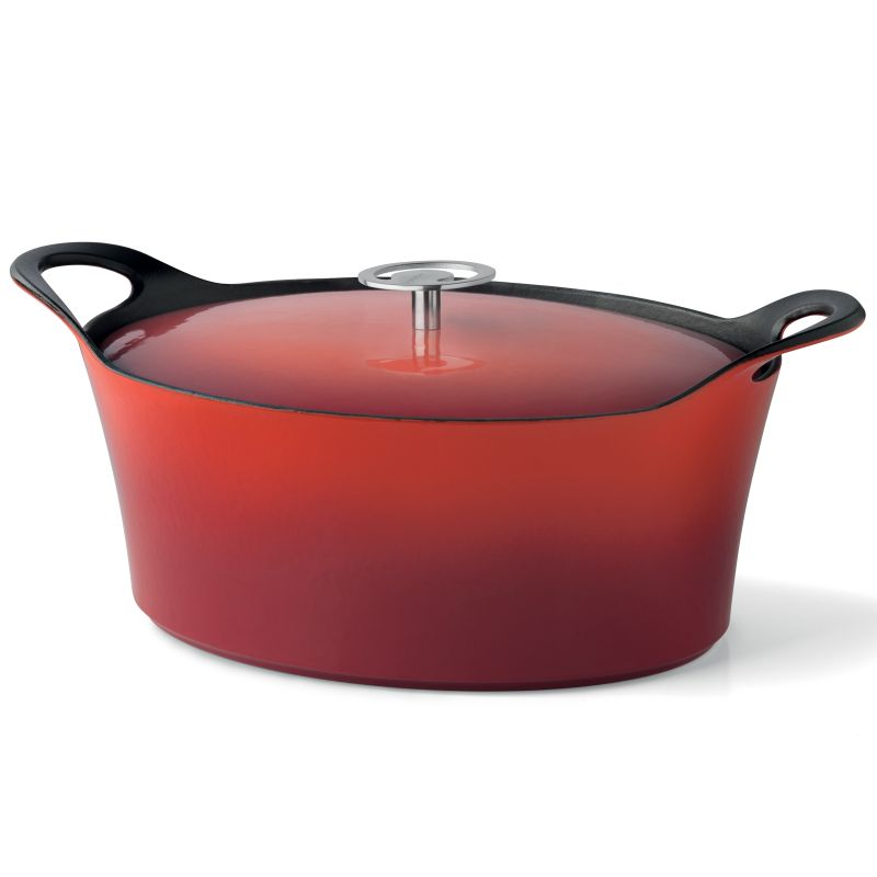 Cocotte ovale rouge 29cm