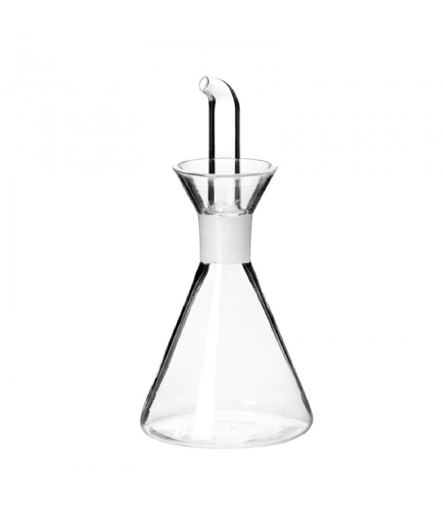 Huilier ou vinaigrier en verre transparent anti goutte 125ml