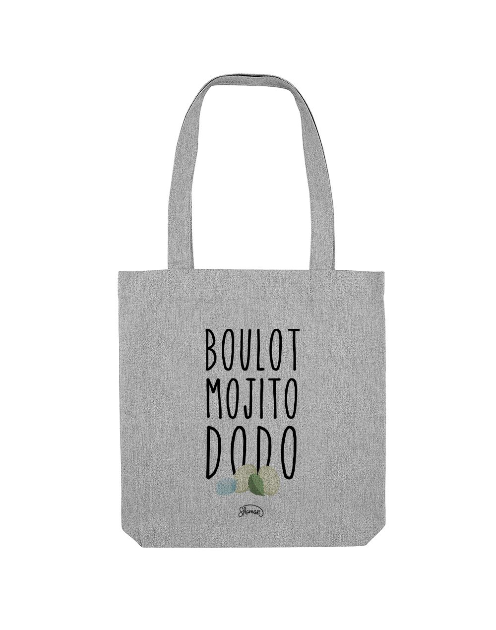 BOULOT MOJITO DODO - Tote Bag  Gris chiné  en coton