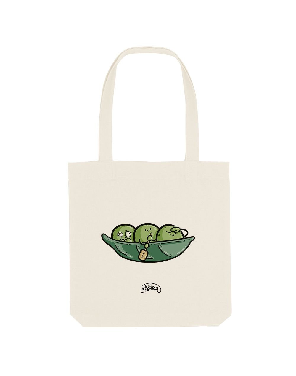 PETIT POIS KAYAK - Tote Bag  Crème  en coton