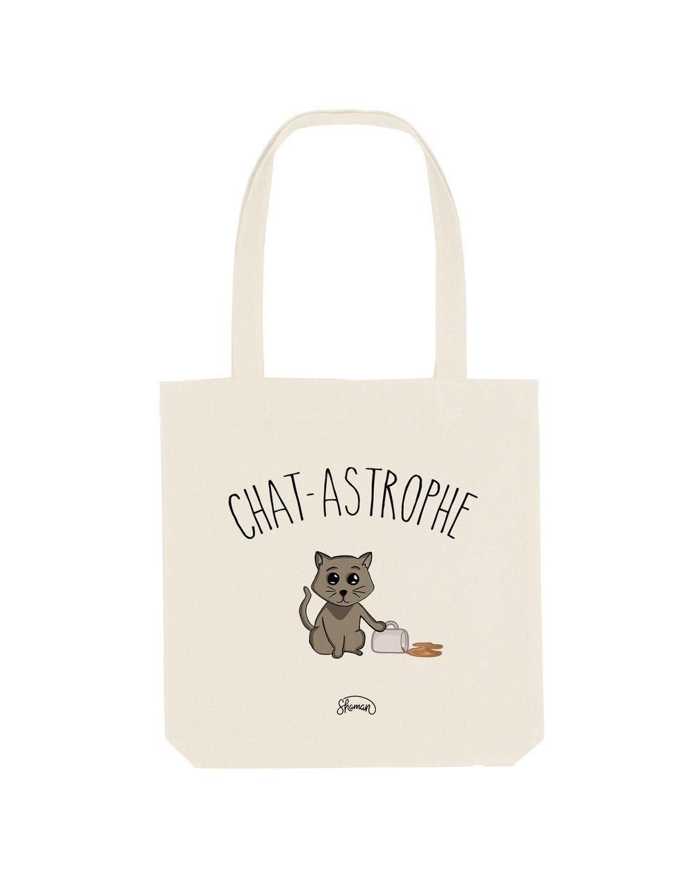 CHAT-ASTROPHE - Tote Bag  Natural  en coton