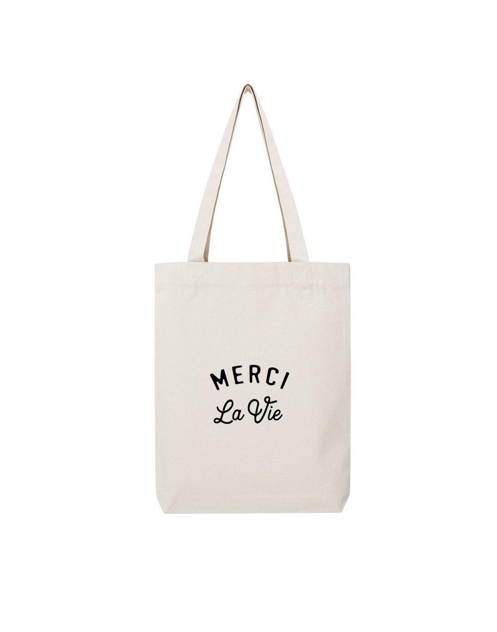 MERCI LA VIE - Tote Bag  Natural  en coton