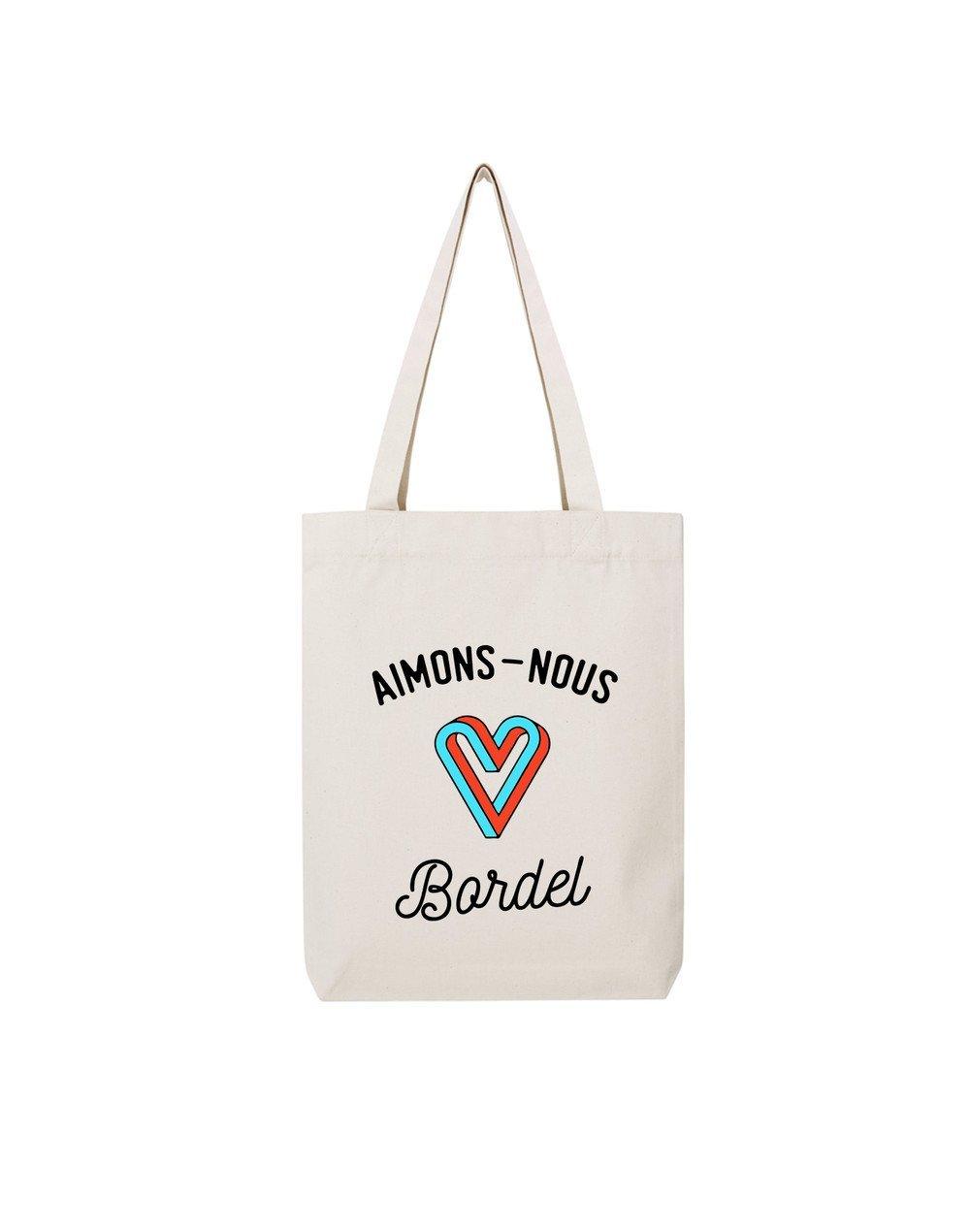 AIMONS NOUS - Tote Bag  Natural  en coton
