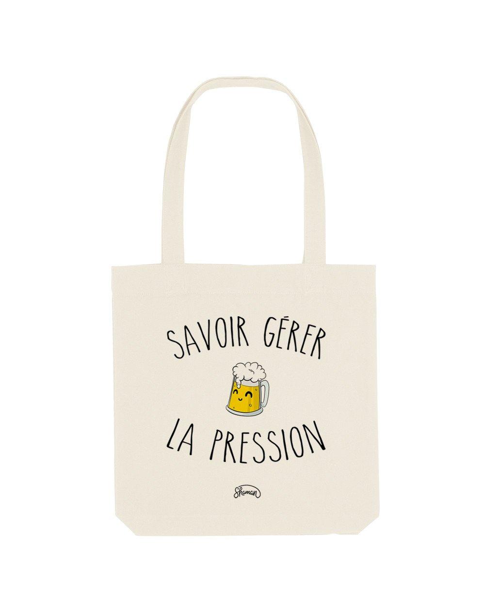 LA PRESSION - Tote Bag  Natural  en coton