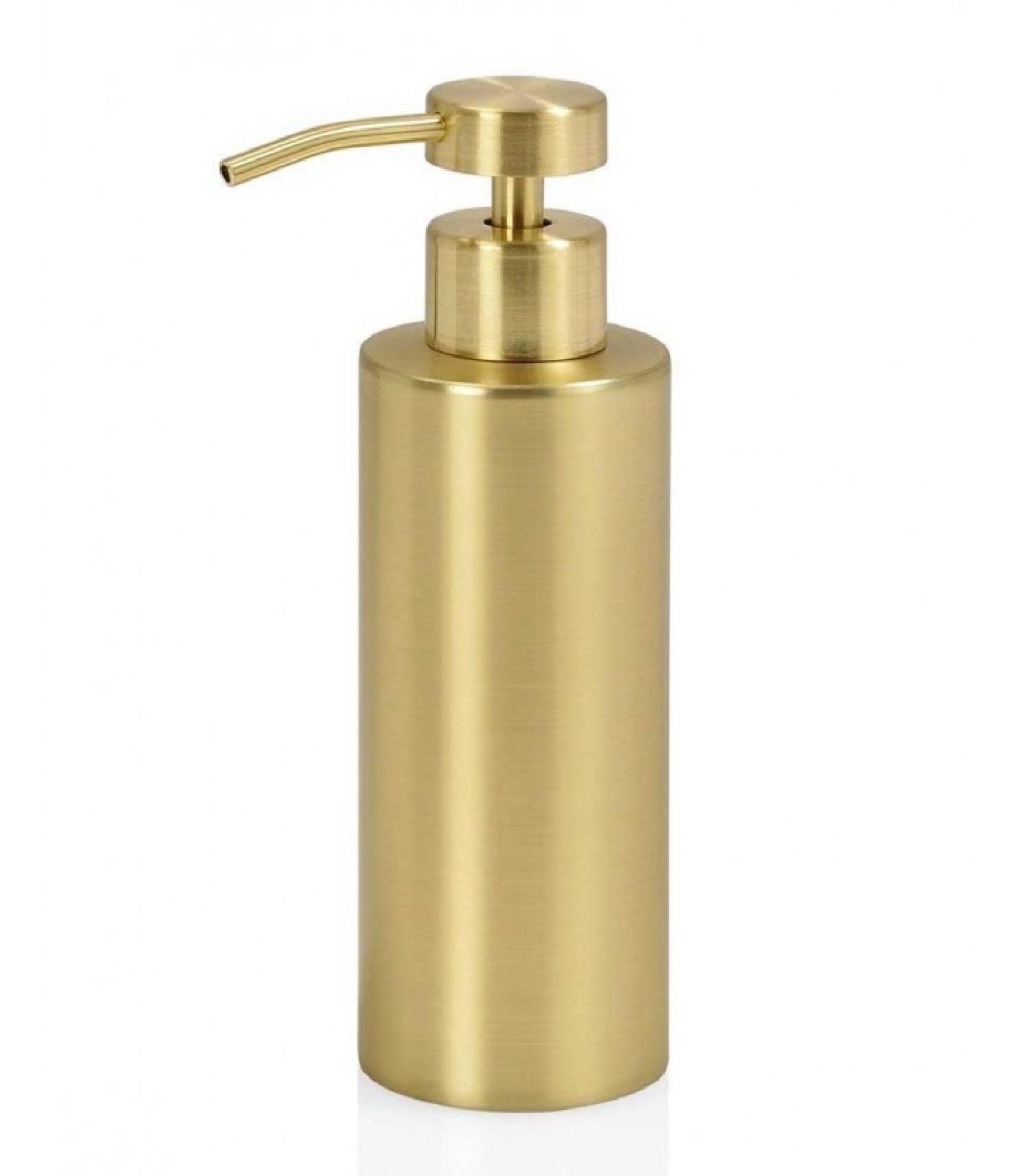 Distributeur de savon en métal doré 220ml