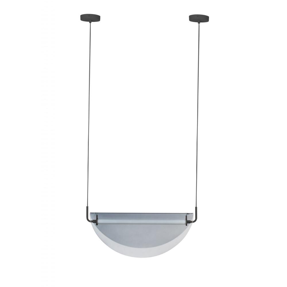 Suspension design en métal gris