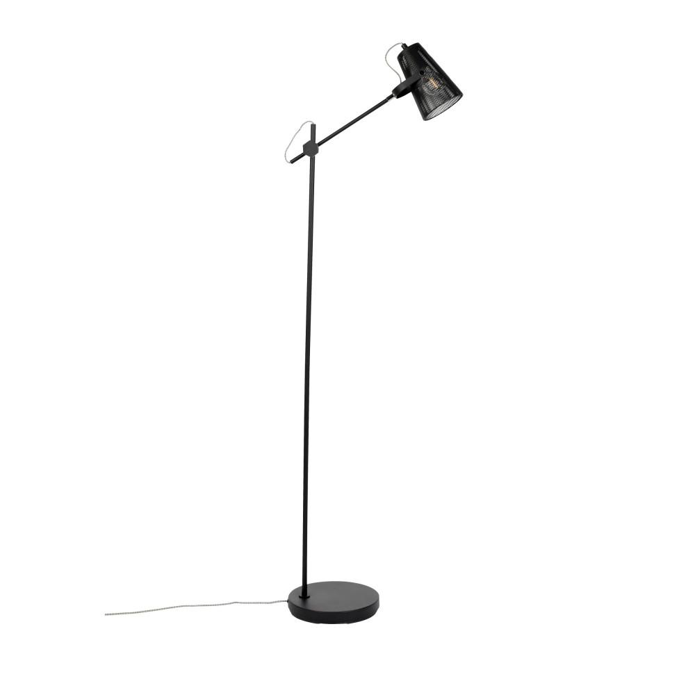 Lampadaire design en métal noir