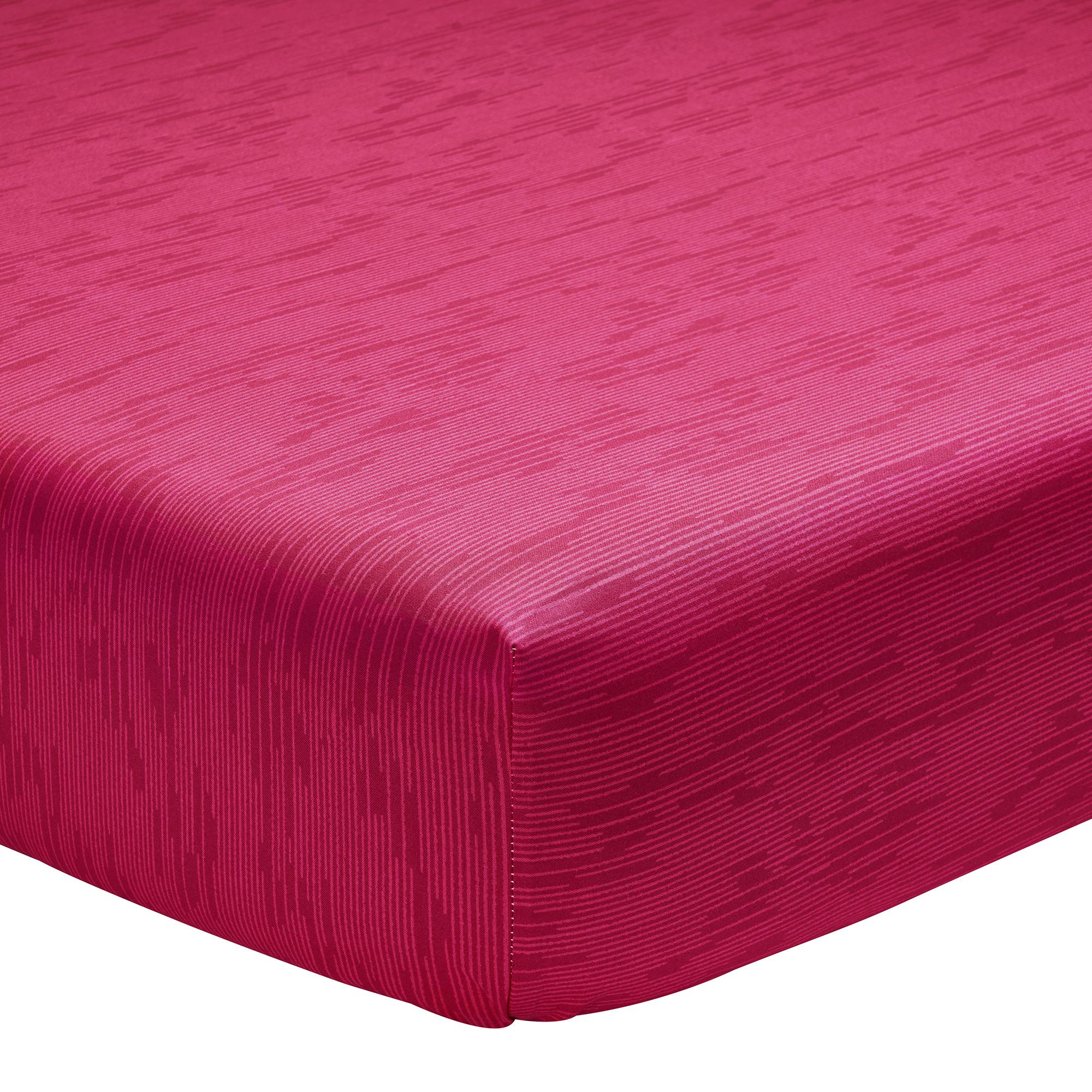 Drap housse imprimé en lyocell rouge 90x190
