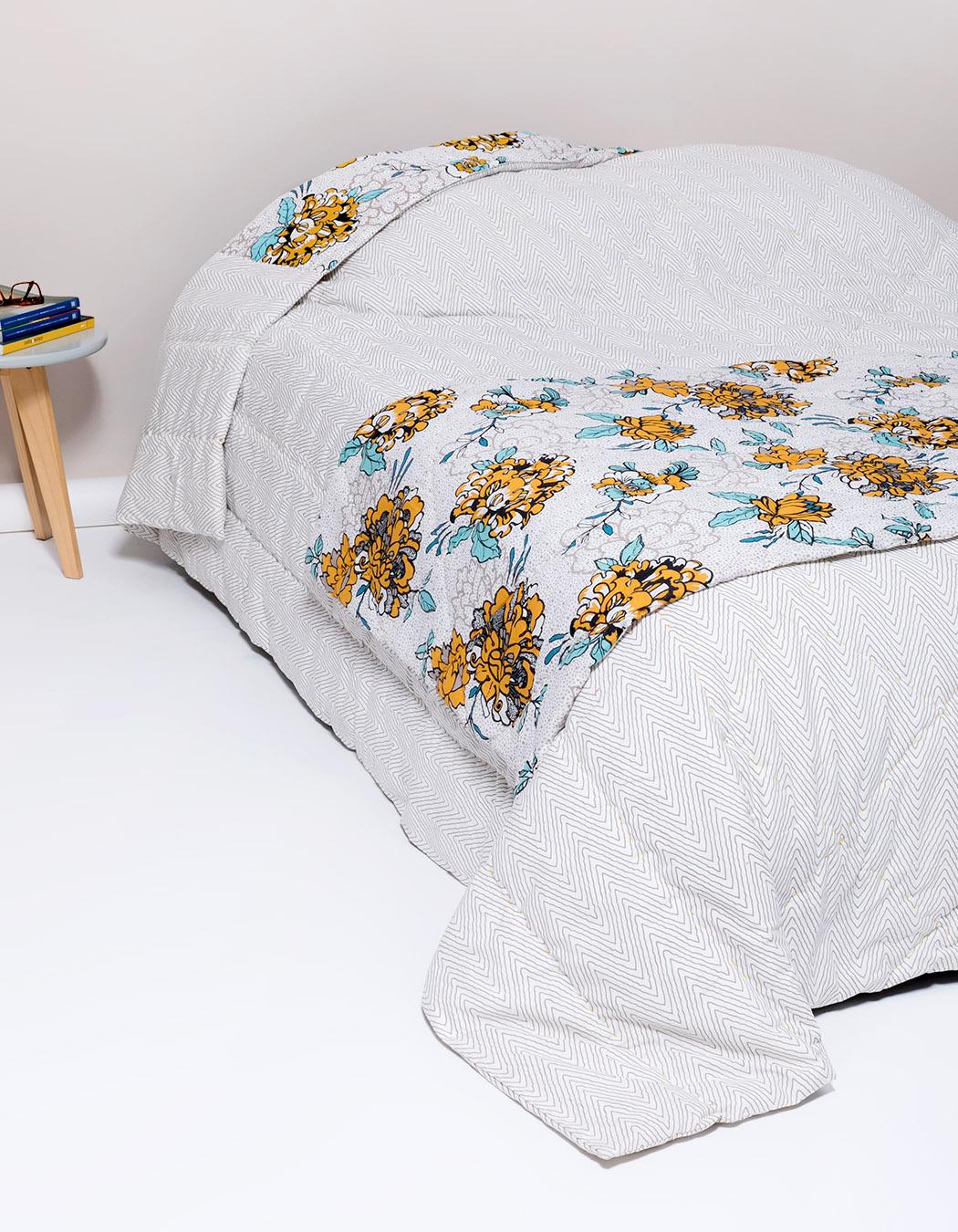 Chemin de lit en coton gres 80 x 200