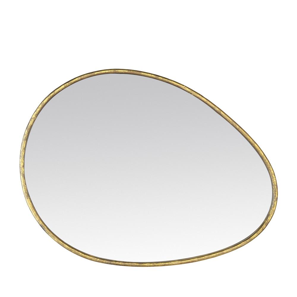 Miroir en métal 60x80 cm or