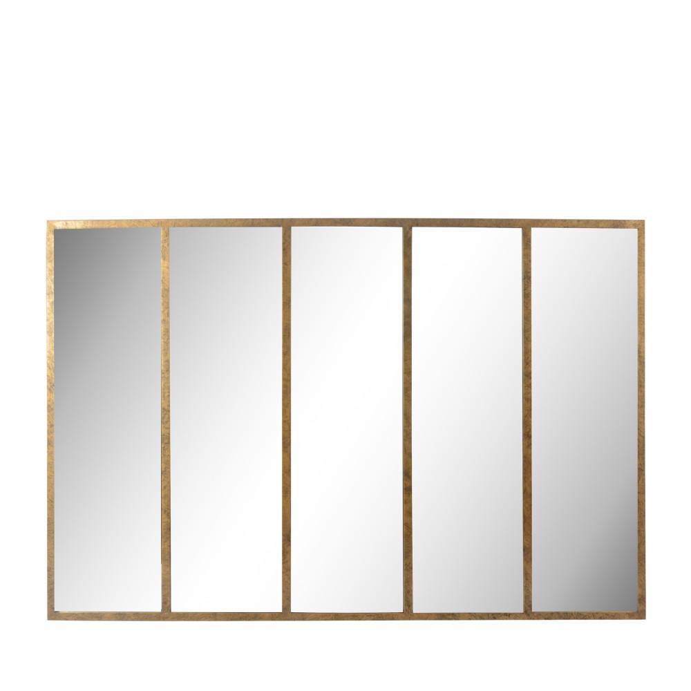 Miroir verrière en métal 137x90 cm or