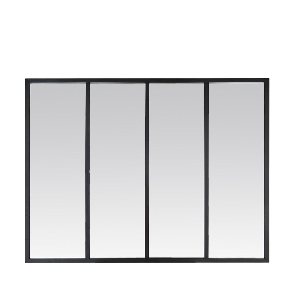 Miroir atelier verrière 90x120 noir