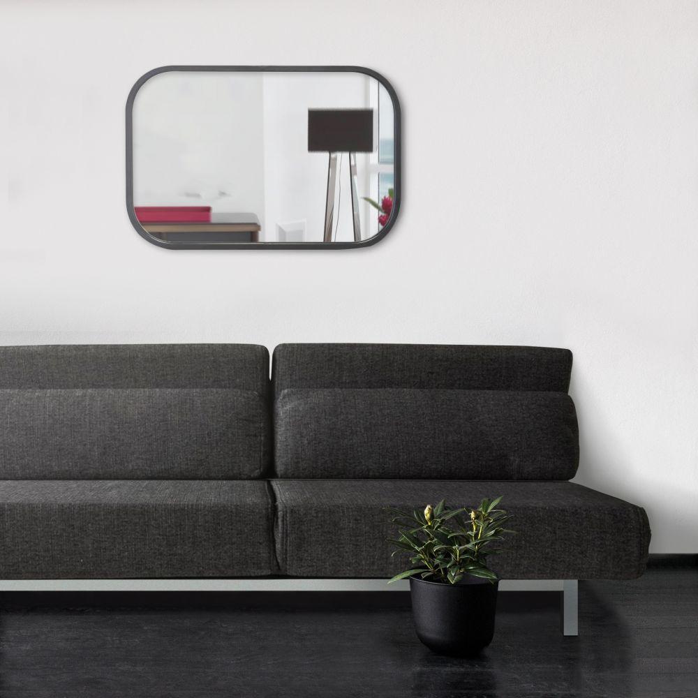 Miroir rectangulaire industriel 40x60 noir