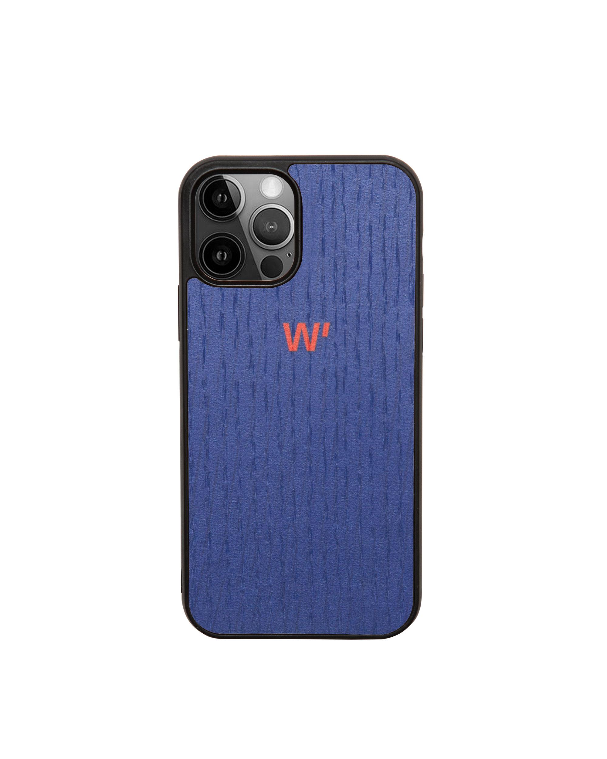 DEEP BLUE - Coque en bois pour iPhone 12/12 pro (photo)