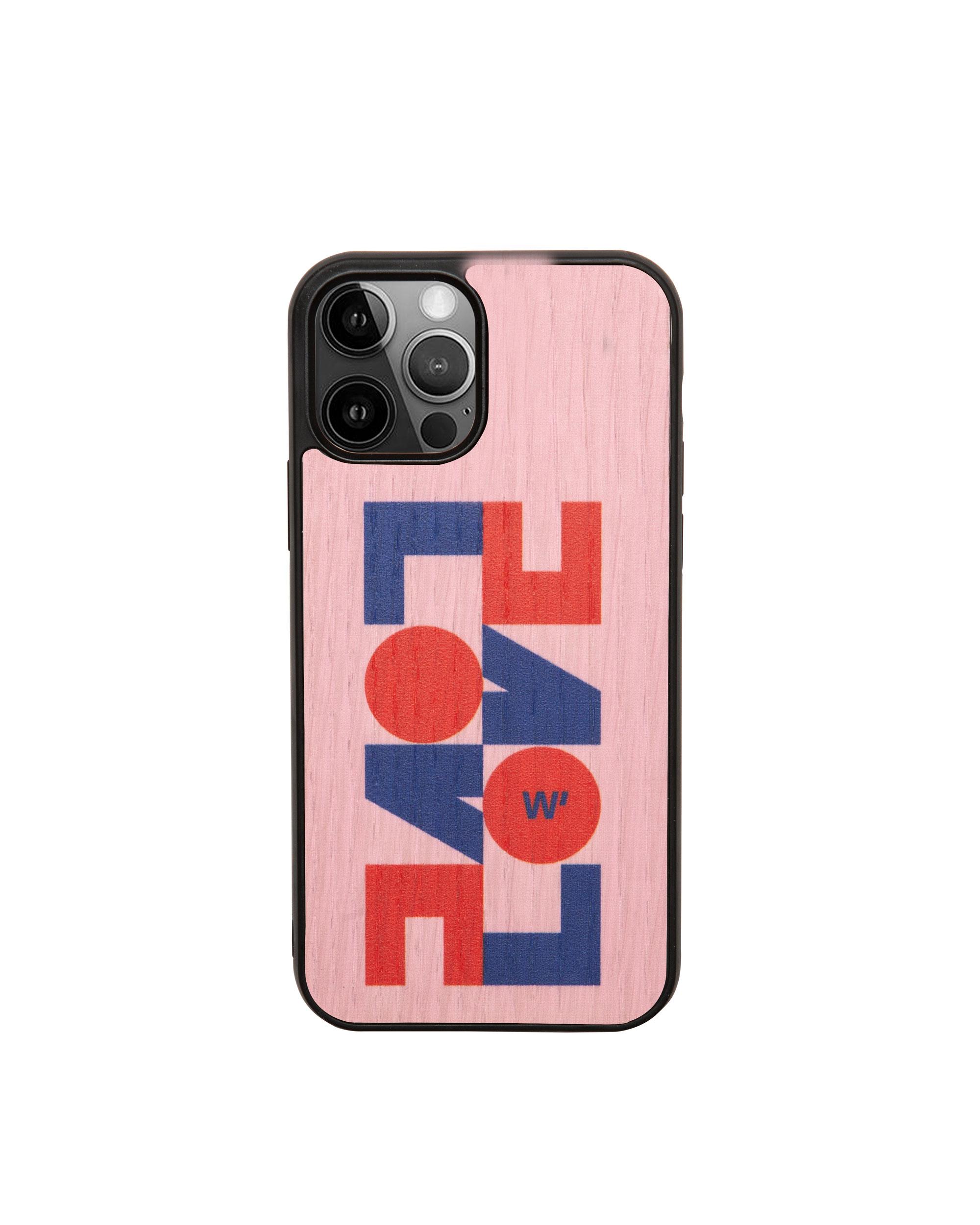 LOVE - Coque en bois pour iPhone 12/12 pro