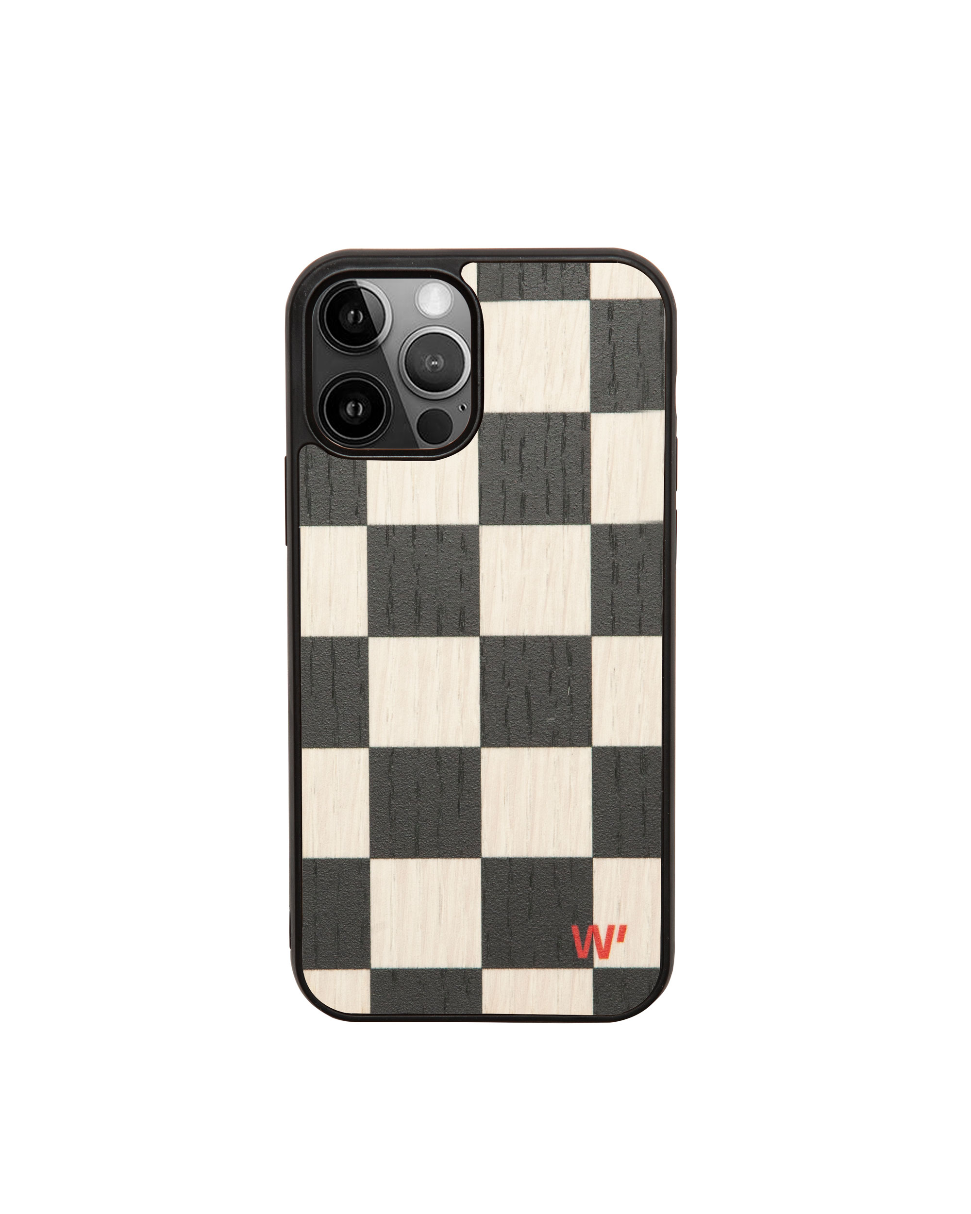 CHECK - Coque en bois pour iPhone 11