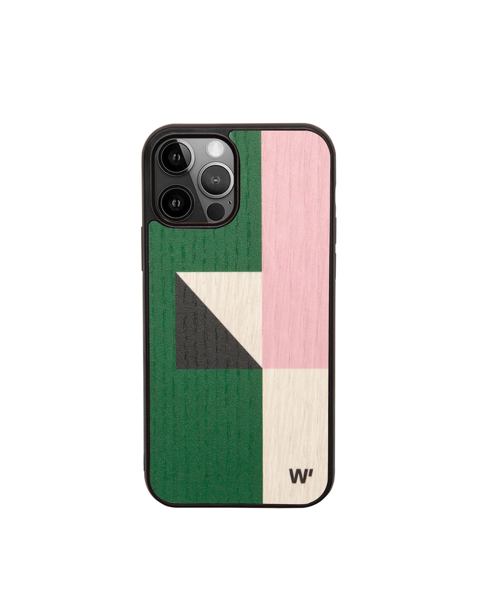 COLOR BLOCK - Coque en bois pour iPhone 12 pro max
