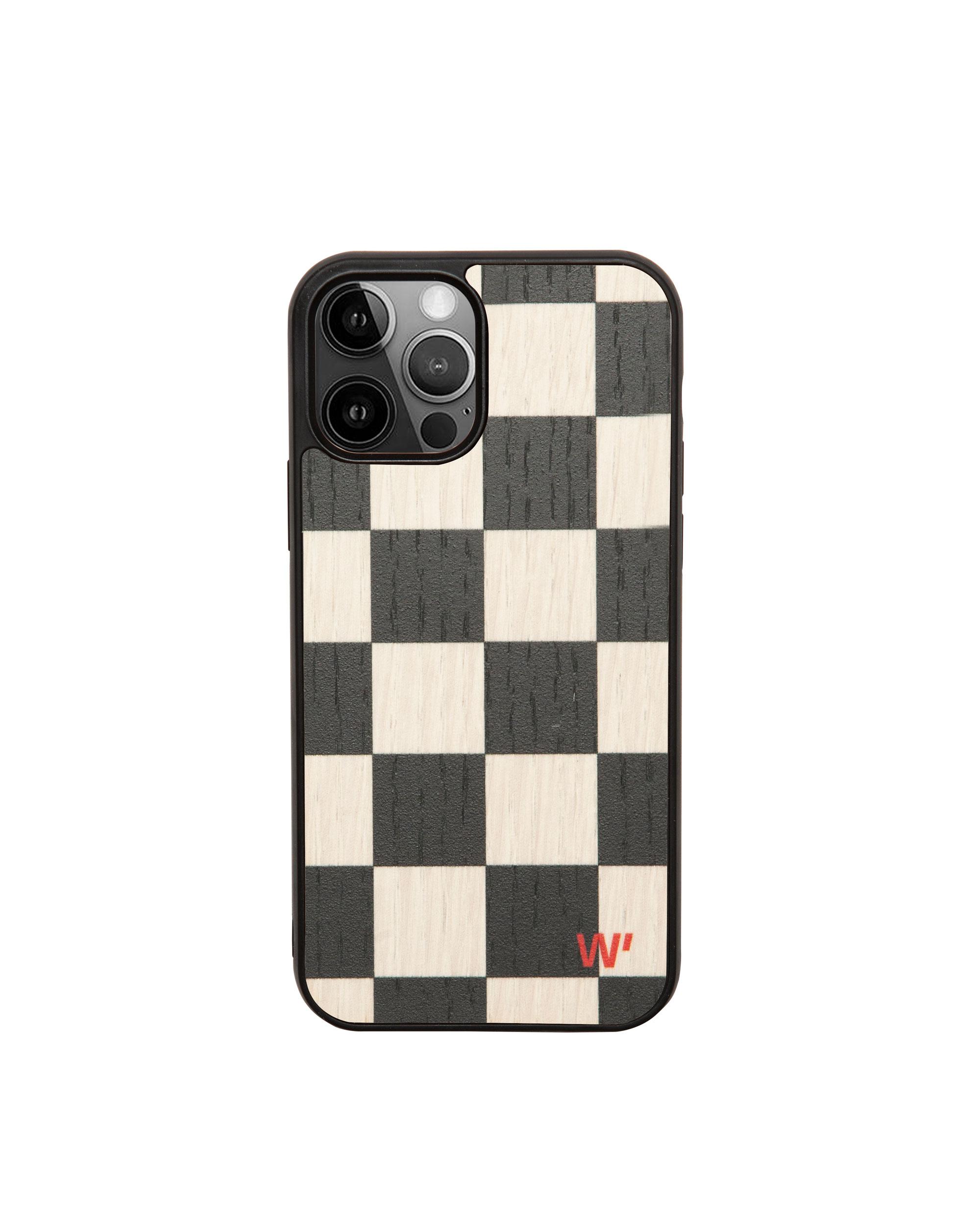 CHECK - Coque en bois pour iPhone X/XS