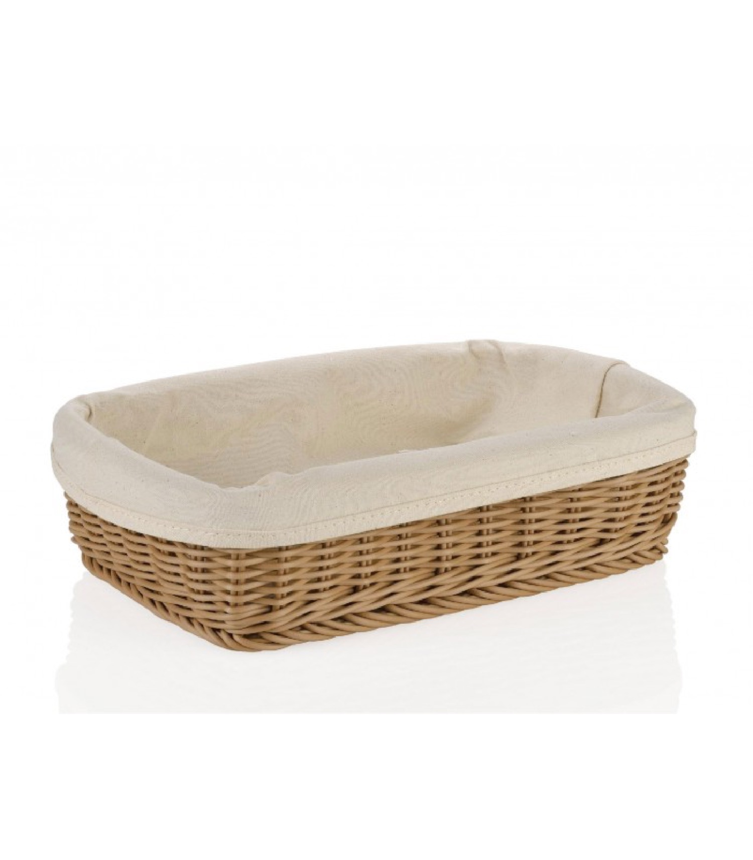 Corbeille à pain traditionnelle rectangulaire 30x22cm