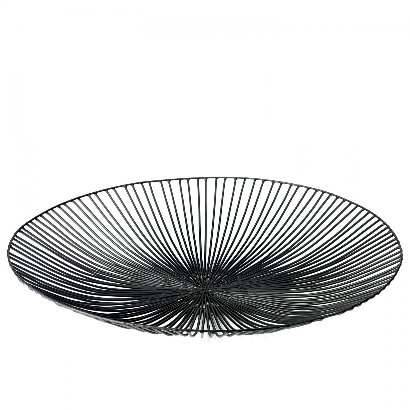 Corbeille en métal noir D50cm
